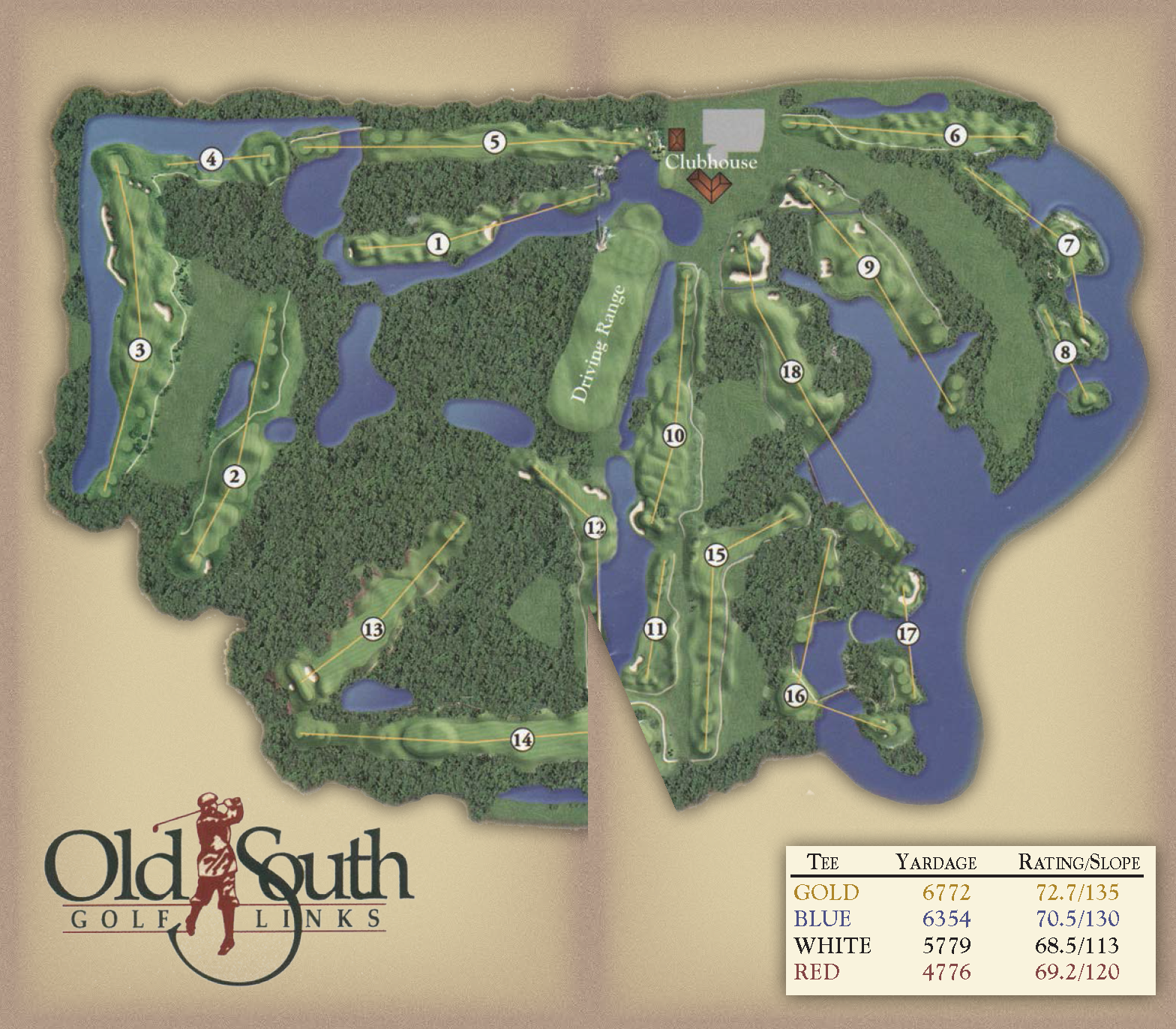 Course Layout - Old South Golf Links on golf course layout maps, golf green maps, golf courses map of us, golf yardage book,